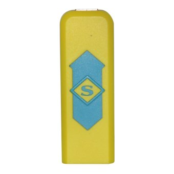 USB Electronic Cigarette Lighter (Yellow)