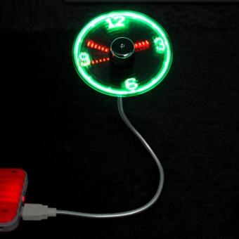 Usb fan clock USB Mini Flexible Time LED Clock Fan with LED Light -Cool Gadget (Picture Color Assorted) Price Philippines
