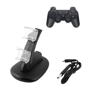 USB Fast Charging Stand For PlayStation PS4 Dual Controller ChargerDock Station - intl