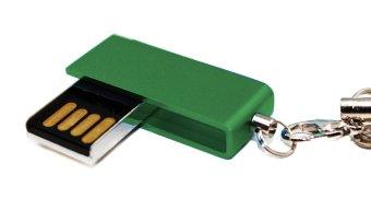 USB World Advance 16GB Flash Drive (Dark Green)