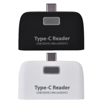 USB3.1 Type-C to USB 2.0 OTG Hub SD / TF Micro SD (HC) Card Readerwith Micro USB Port (Black) - intl - 4