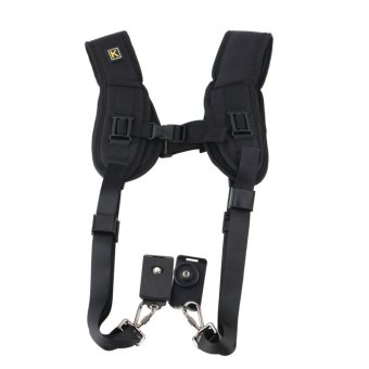 USTORE Double Dual Shoulder Neck Strap Sling Belt For Digital SLRDSLR Camera - intl