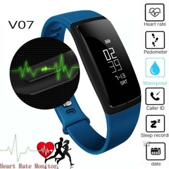 V07 Blood Pressure Smart Wristband Pedometer Smart Bracelet HeartRate Monitor Smartband Bluetooth Fitness For Android IOS Phone -intl