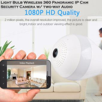V380s Light Bulb Wireless Wi-fi 360? Panoramic IP Cam Security Camera w/ two-way Audio, Real time View - 2