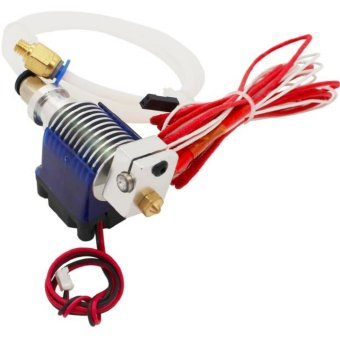 V6 Long Distance J-head Hotend 0.4mm Nozzle for 3mm Wade Extruder with Cooling Fan for Makerbot Reprap 3D Printer - intl