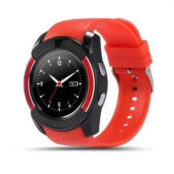 V8 Smart Watch Clock With Sim TF Card Slot Bluetooth for Android and iOS(Red) - 3