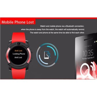 V8 Smart Watch Clock With Sim TF Card Slot Bluetooth for Android and iOS(Red) - 4