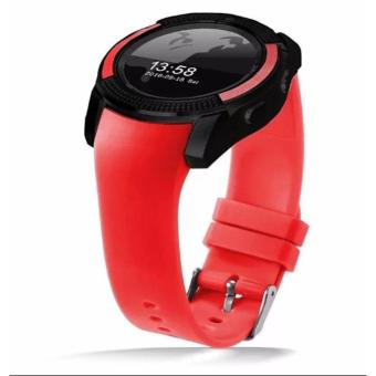 V8 Smart Watch Clock With Sim TF Card Slot Bluetooth for Android and iOS(Red) - 2
