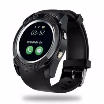 V8 Smart Watch Phone 0.3M Camera Bluetooth Music Player And SIM(Black)