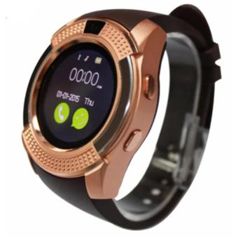 V8 Smart Watch Phone 0.3M Camera Bluetooth Music Player And SIM(Gold)