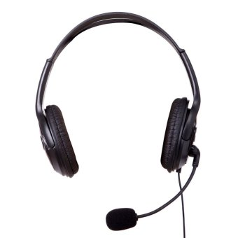 VAKIND Wired with Noise Cancelling Over-The-Ear Headset with Mic (Black) - intl
