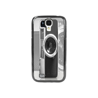 Vintage Camera Pattern Phone Case for Samsung Galaxy S4 (Black)
