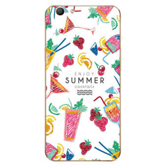 VIVO V5 small flower jelly watermelon lanyard phone case silicone case