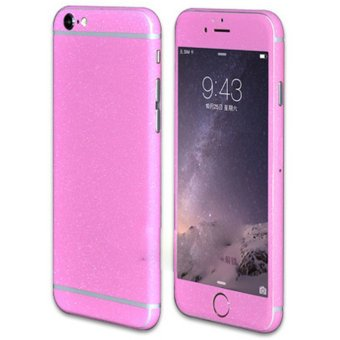 Vococal Ultra-thin Full Body Removable Traceless Protective MatteGlitter Sticker Skin Wrap Cover Film for iPhone 6 Plus 6S Plus(Pink)