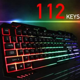 VORTEX USB Gaming Keyboard with Three Color Backlight MultimediaErgonomic (Blue/Red/Purple) 3in1 color - 2