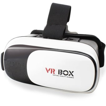 VR Box 3D Virtual Reality Glasses for Smartphone Design 2 (White/Black) Price Philippines