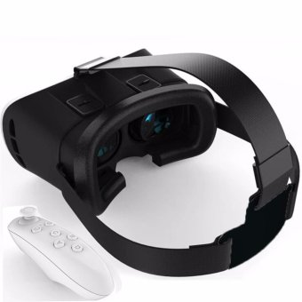 VR Box 3D Virtual Reality Glasses for Smartphone(White) withBluetooth VR controller Price Philippines