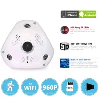 VR IP CAM 3D Stand Alone CCTV 360 Degrees Panoramic View Camera Micro SD Card Slot Wifi LAN Connection