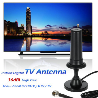W36 Indoor Digital TV Antenna 36dBi High Gain Full HD 1080p VHF / UHF DVB-T-Aerial F Male Connector for HDTV / DTV / TV