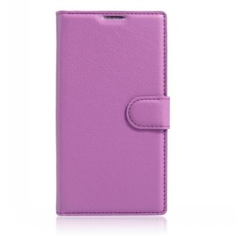 Wallet Flip Leather Case Cover For Alcatel Flash 2/Alcatel OneTouch Flash 2 (Purple) - intl