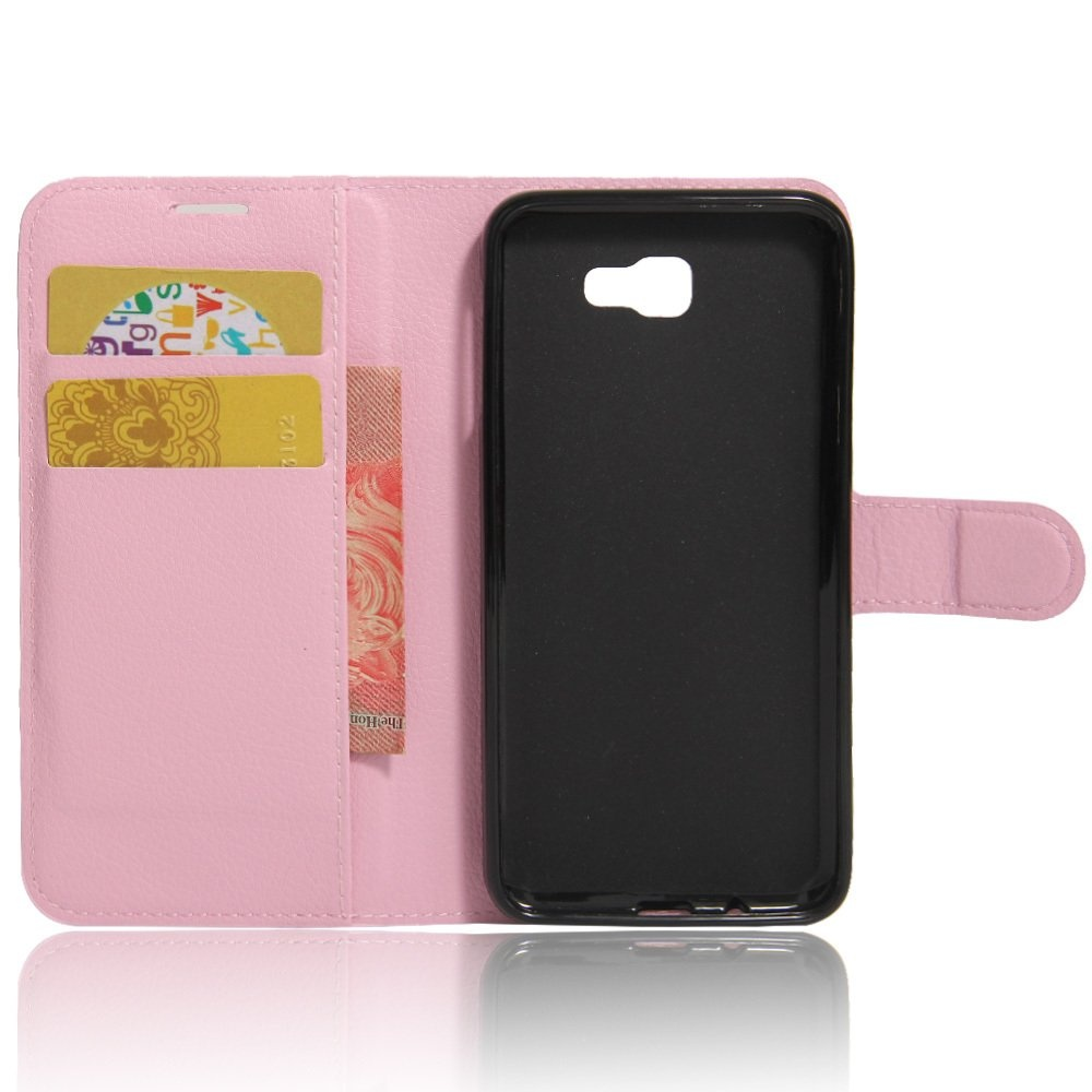 ... Intl Source · Wallet Flip Leather Case Cover For Samsung Galaxy J7 Prime SamsungGalaxy On7 2016 Pink