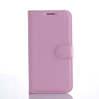 Wallet Flip Leather Case Cover For Samsung Galaxy S7 Edge (Pink) -intl