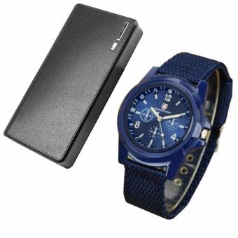 Wallet Style Power Bank 20000mAh (Black) with Gemius Army MilitarySports Style Army Blue Price Philippines