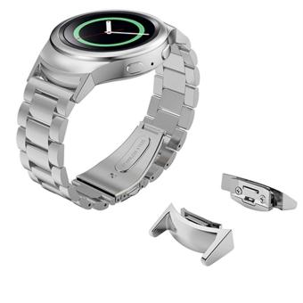 Watch Band Strap and Connector for Samsung Galaxy Gear S2 SM-R720 Stainless Steel Strap - intl