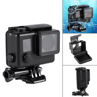 Waterproof Blackout Diving Protective Housing Case Cover For Gopro Hero 3+4 - intl