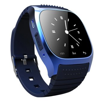 Waterproof Bluetooth Smart Wrist Watch Phone Mate for Smart Phones (Blue)