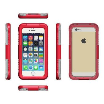 Waterproof Case Cover IP68 PC+Silicone Waterproof case cover foriPhone 6 6s with retail package (Red) - intl Price Philippines