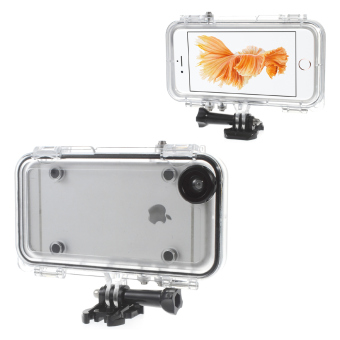 Waterproof Case with Wide Angle Lens for iPhone 6/6S (Black)