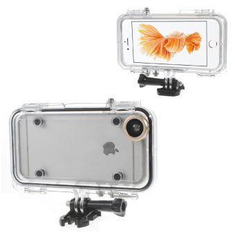 Waterproof Case with Wide Angle Lens for iPhone 6/6S (Gold)