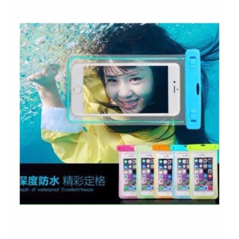 Waterproof pouch cellphone holder Bag Luminous glow in the dark Underwater gadget case UNIVERSAL case Fits all (Green)