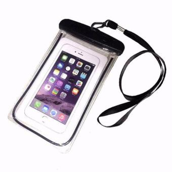 Waterproof Underwater Case Dry Pouch for Mobile Android Smartphone and iPhone 6 Plus, Samsung Phone and Apple Glow in the Dark ( Black )