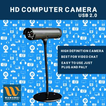 Wawawei HD Webcam Web Cam Camera with MIC for Laptop Computer withstand (Black)