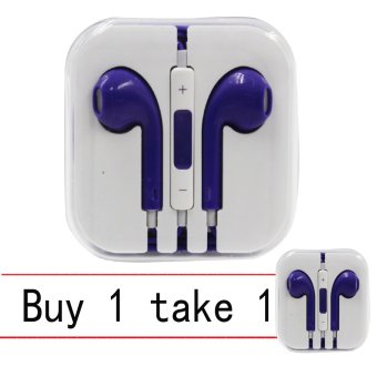 wawawei In-Ear Headphones for iPhone (Purple) Buy 1 Take 1
