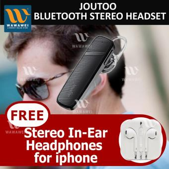 Wawawei Joutoo BEST Wireless Bluetooth Headset#M999 (black) withFREE Iphone Headset#I5