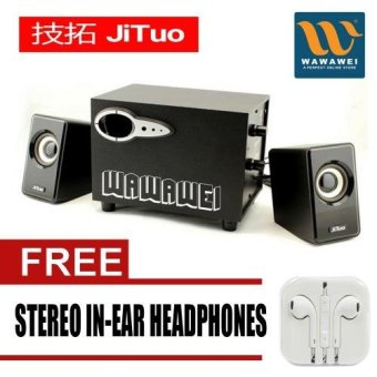 Wawawei JT2806 Multimedia Speaker (Black) with Free Stereo in earheadphones Price Philippines