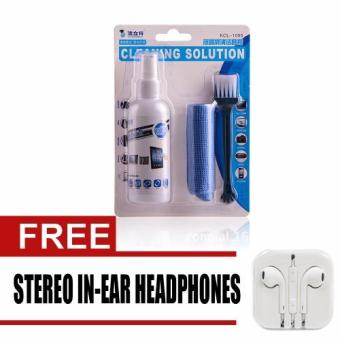 Wawawei Screen Cleaning Solution with free Stereo In-Ear Headphone(White)