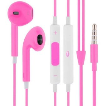 wawawei Stereo Earphones with MIC (Pink)
