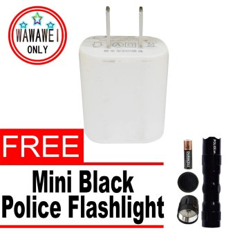 Wawawei USB Adaptor for Smartphone (White) with free Mini BlackPolice Flashlight