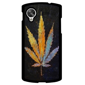 Weed Hipster Quote Pattern Phone Case for LG Nexus 5 (Multicolor)