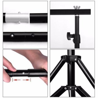 Wego fashion,high-quality,Adjustable 3x2.6m Pro Portable Heavy-DutyBackdrop Support System Kit 3m * 2.6m- Tripod is adjustable + CarryBag- Professional Photo Studio Backgrounds Kit - intl - 3