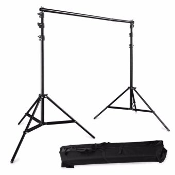 Wego fashion,high-quality,Adjustable 3x2.6m Pro Portable Heavy-DutyBackdrop Support System Kit 3m * 2.6m- Tripod is adjustable + CarryBag- Professional Photo Studio Backgrounds Kit - intl
