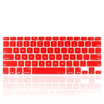 Welink Fashion Silicone US Keyboard Cover Waterproof Keyboard Protector Skin For Apple Macbook Air 13 Inch , Macbook Pro 13 Inch 15 Inch And Imac (Red)