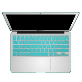 Welink Fashion Silicone US Keyboard Cover Waterproof KeyboardProtector Skin For Apple Macbook Air 11 Inch (Turquoise)