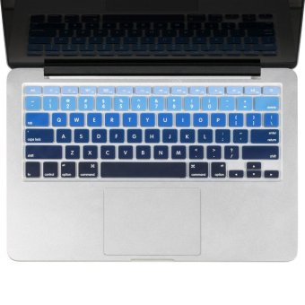 Welink Fashion Silicone US Keyboard Cover Waterproof KeyboardProtector Skin For Apple Macbook Air 13 Inch , Macbook Pro 13 Inch15 Inch And Imac (mix Blue Ombre)