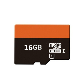 WHD 16GB Micro SD Card (black orange)