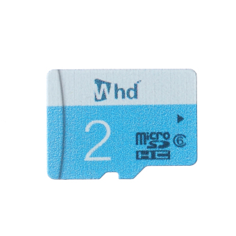 WHD SD02B 2GB Micro SD Card (Blue) - picture 2